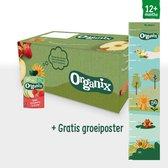Organix Knijpfruit Maandbox - Vanaf 12 Maanden - Biologisch - 30 Stuks - fruithapje peuter - zonder onnodige toevoegingen - verantwoord tussendoortje