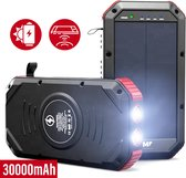 Solar Powerbank - 30000 mAh - Powerbank Zonneenergie - Powerbank USB C - Draadloos Opladen - 4x USB - IP65 - Powerbank Iphone - Powerbank Samsung - Snellader - Powerbanks voor Dagelijks Gemak