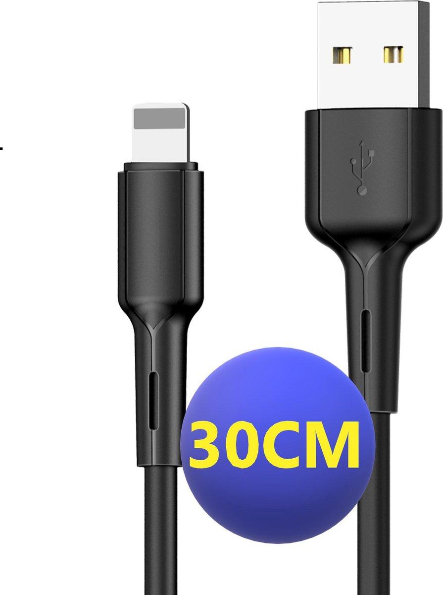 iPhone oplader kabel | 30CM | Geschikt voor Apple iPhone 6,7,8,X,XS,XR,11,12,Mini,Pro Max- iPhone kabel - iPhone oplaadkabel - iPhone snoertje - iPhone lader