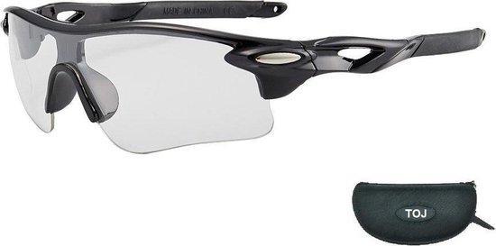Fietsbril Met Hoes | Sportbril | Racefiets | Mountainbike | MTB | Sport Fiets Bril| Zonnebril | UV Bescherming | Zwart | Transparante Lens
