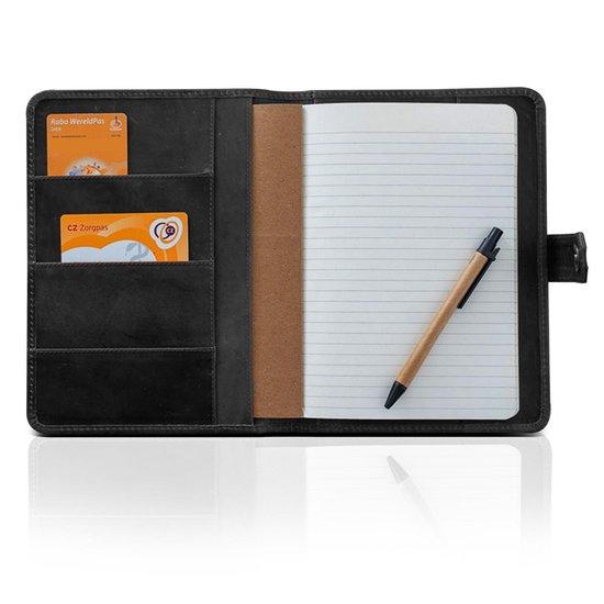 Jb-Luxo Notitieboek Zwart – Notitieboek a5 – Notitieblok Hardcover – Leren Notitieboek – Vintage Notitieboek - Zwart - Leer - Navulbaar
