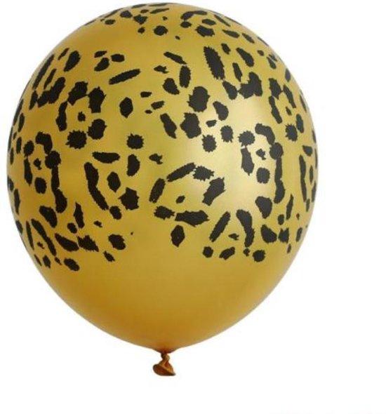 10 x Gouden ballonnen | Panter print | Luipaard print | Jungle feest | Jungle party | Thema feest