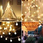 Lichtsnoer - Fairy Lights - Lampjes Slinger - Lichtsnoer buiten -  Lichtslinger - Lichtjes - Warm Wit - 20 Bolletjes - Lichtslinger binnen buiten - Partyverlichting - Lichtjes Slinger - 3 Meter