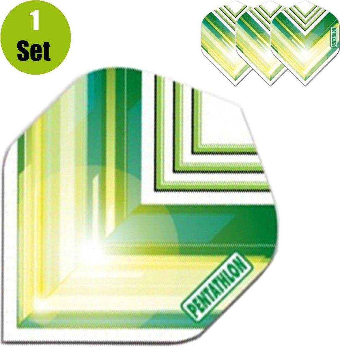 Pentathlon Vizion V Dartflights - Groen- ()