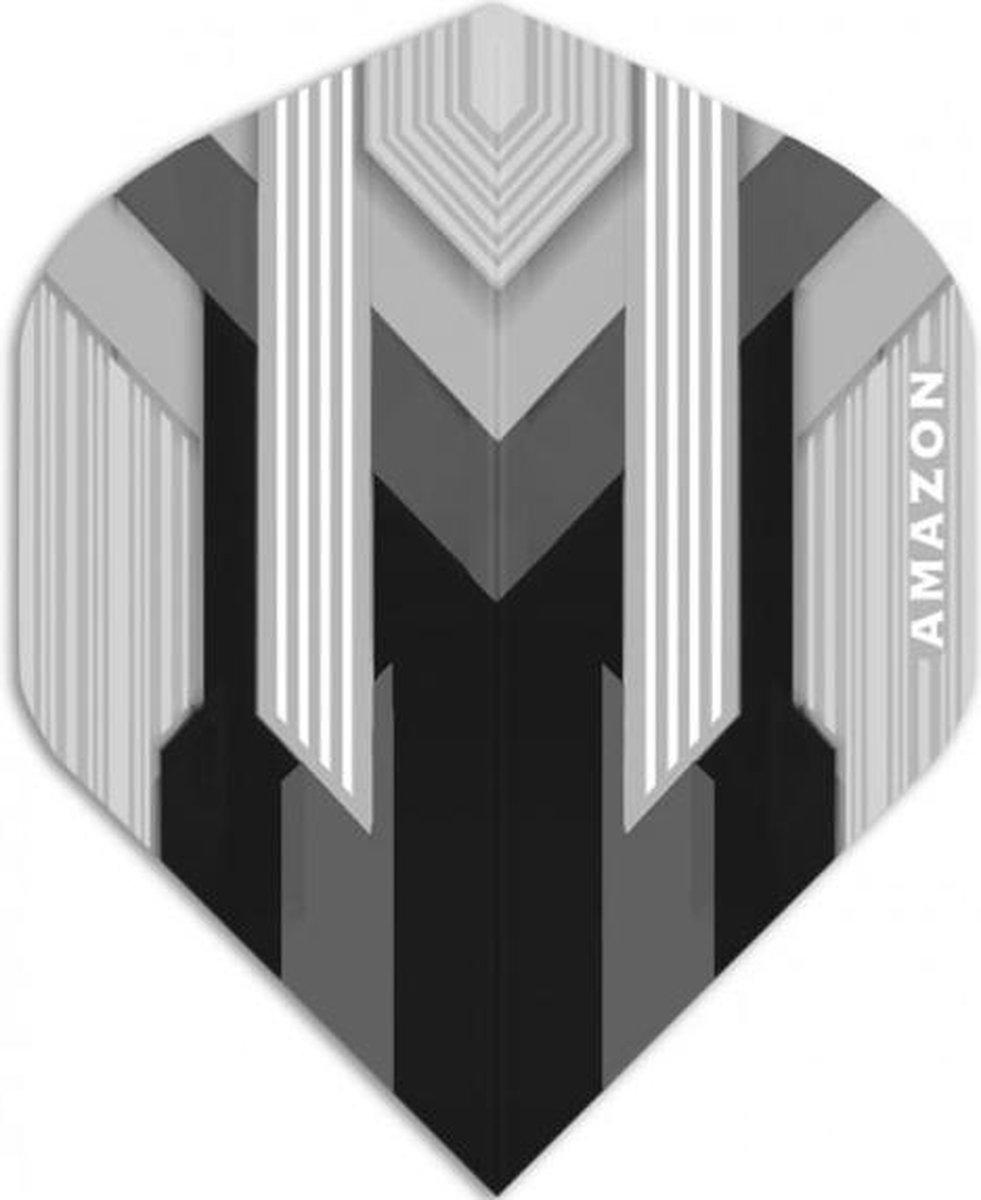 Amazon Silver Dartflights - Zwart- ()
