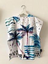 Beach poncho Hawaii   One Size   Kids   100% microfibre   Tropical   Strand   Handdoek   Maison Boho