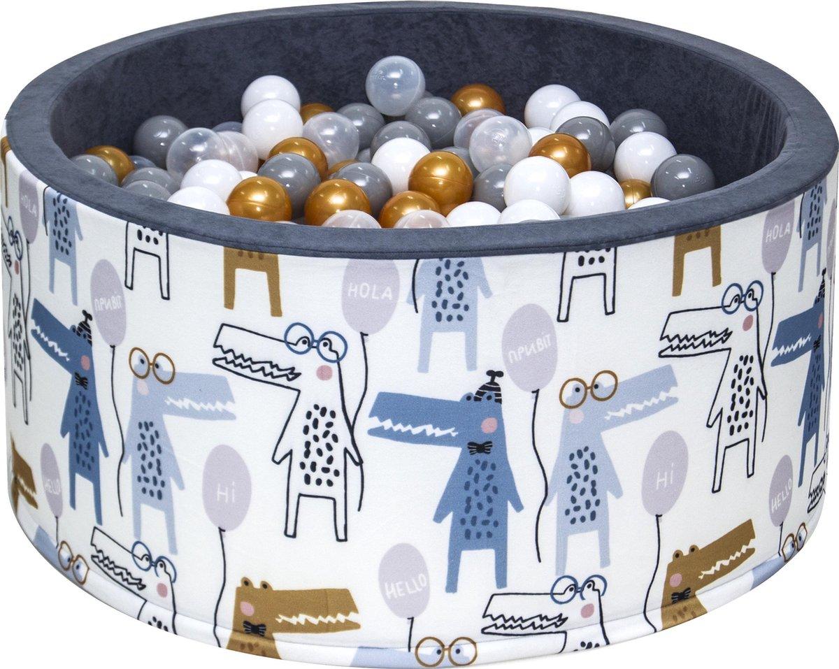 Ballenbak XL incl ballenbak ballen - Figuurtjes Wit