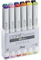 Copic Sketch Markers - 12-Delige stiften set van Basis Kleuren
