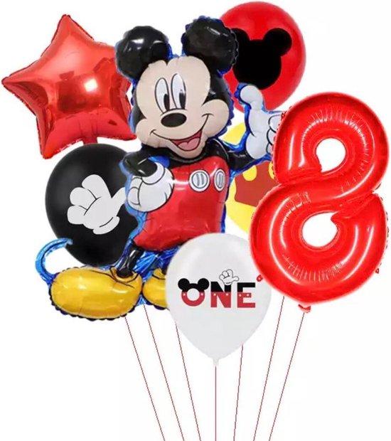 Disney Mikey Folie Ballonnen Set Mickey Mouse Ballon 7 stuks Verjaardagsfeestje Decoratie - 8 jaar