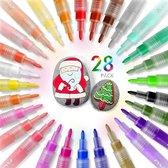 Afbeelding van Joyage Acryl stiften - 28 stuks - Verfstiften - Acrylverf - Happy Stones