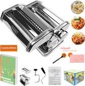 Pastamachine Pastamaker Pasta Machine Pastabijbel Pasta Kookboek - Incl. schoonmaaksetje - Incl. pastaboek via mail - RAVEG ®