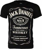 Jack Daniels - Jack Daniels Classic Logo  T-Shirt XL - Zwart