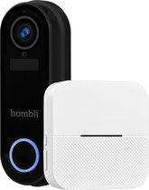 Hombli Smart Doorbell 2 Pack - Black (incl. Chime)