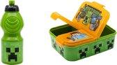 Minecraft lunchbox/broodtrommel multi compartimenten  - incl. drinkbeker