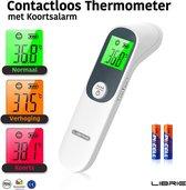 Librie® IRT-67F05 Voorhoofd thermometer lichaam - koortsthermometer voor volwassenen, kinderen en Baby's infrarood thermometer Digitale thermometer koorts Incl. batterijen + NL Handleiding - Wit