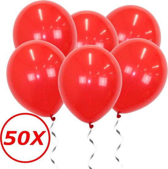 Rode Ballonnen 50st Feestversiering Verjaardag Valentijn Ballon