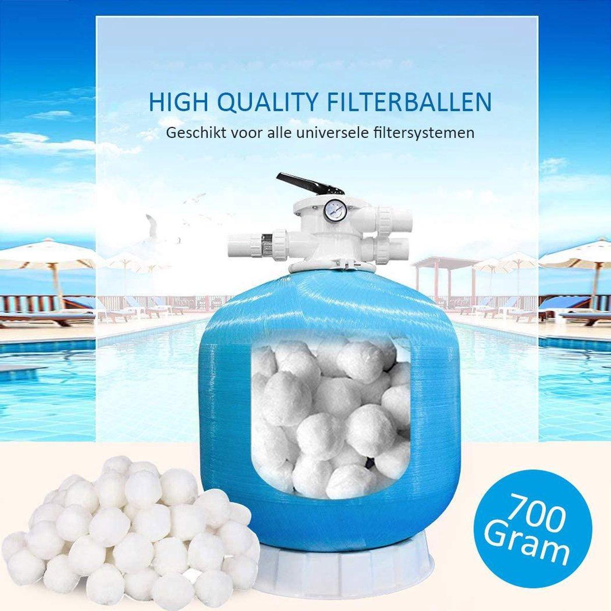 Meisterhome - Filterballen 700 gram vervanging voor 25kg zand - zwembad - filter ballen - Polysphere balletjes