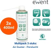 Ewent Perslucht Spuitbus voor PC - Compressed Air Duster 3x 400ml - Upright Use