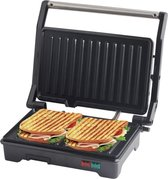 COOK-IT Tosti Apparaat - Contactgrill - Grill apparaat - Tosti IJzer - 180° Uitklapbaar - Cool Touch - Media Evolution®