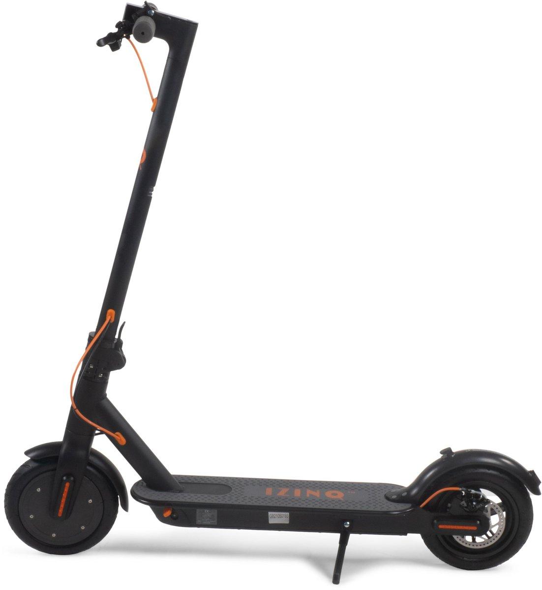 """IZINQ PRO250 - Elektrische step - 8.5"""" (lucht)banden - 2 jaar garantie op lithium 7.8Ah 36V accu - iOS/Android app - Zwart/Oranje - 25km/u - Electric scooter - Volwassenen en kinderen"""