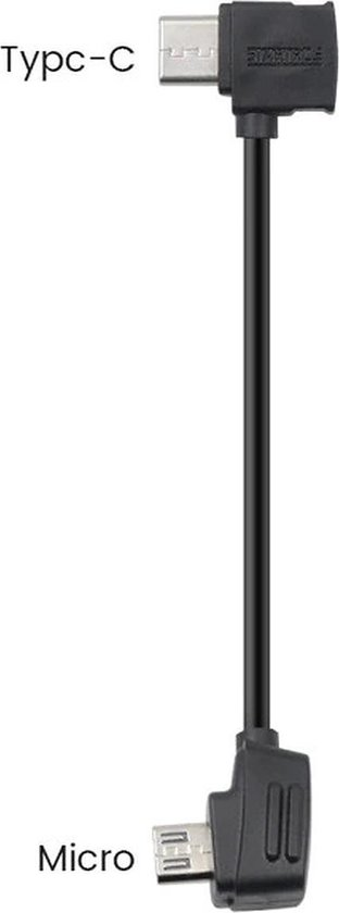 DJI Mavic 2 Pro / Mavic Mini / Mavic Air / Spark - RC Kabel - Micro USB naar USB C 10 cm