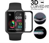 DrPhone Apple Watch 4 / 5 / 6 / SE - 40mm Glas - 0.2mm Glazen screenprotector - Volledige Bescherming - Tempered glass - Zwart