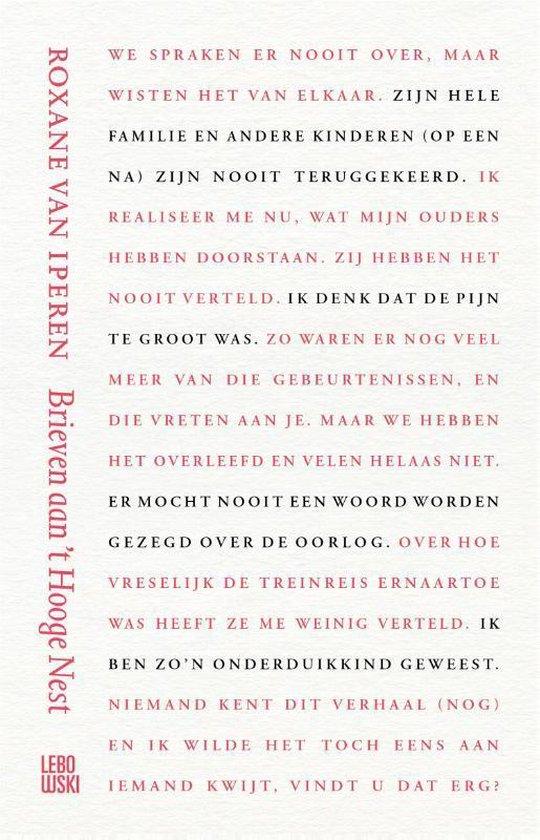 Boek cover Brieven aan t Hooge Nest van Roxane van Iperen (Hardcover)