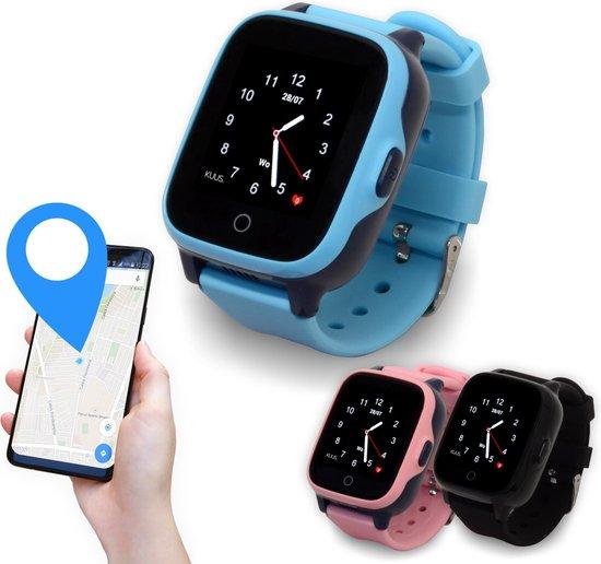 KUUS. W2 - 4G GPS horloge kind, smartwatch voor kinderen met GPS tracker - Walkie Talkie functie - Blauw