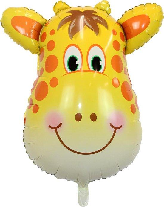 Giraffe Ballon Jungle Safari Helium Ballonnen Verjaardag Versiering Feest Decoratie XL Formaat 90 CM Met Rietje – 1 Stuk