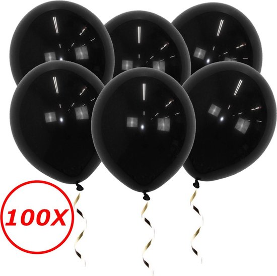 Zwarte Ballonnen Verjaardag Versiering  Zwarte Helium Ballonnen Halloween Feest Versiering Zwart 100 Stuks