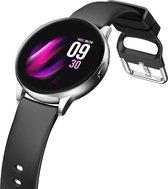 RPD Smartwatch - Activity Tracker - Smartwatch Dames - Smartwatch Heren - Met Touchscreen - Siliconen band - Dames en Heren Horloge - Stappensteller - Bloeddrukmeter - Waterbestendig - Zwart