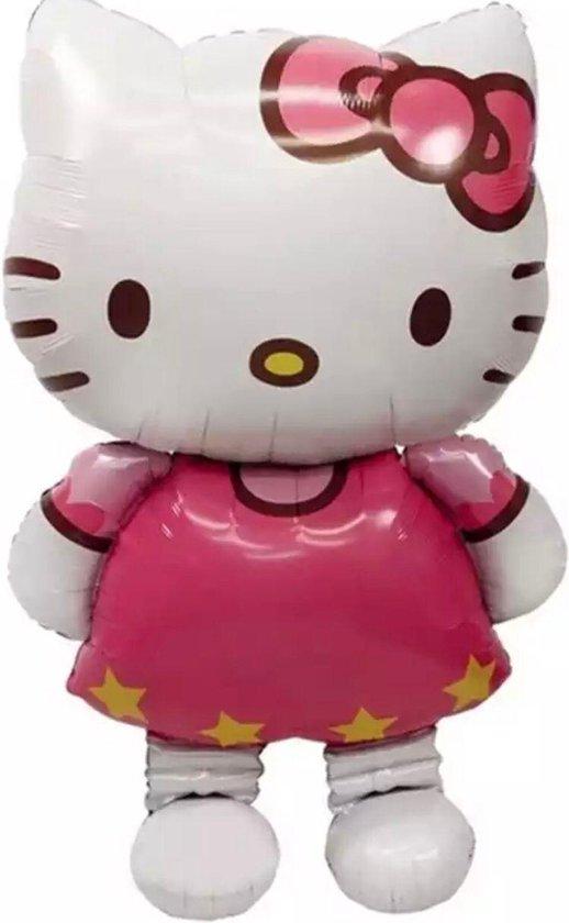 Hello Kitty Folie Ballon  XL GROOT - 116 x 68 CM   Verjaardag Partij Decoratie Opblaasbare Luchtballon Speelgoed