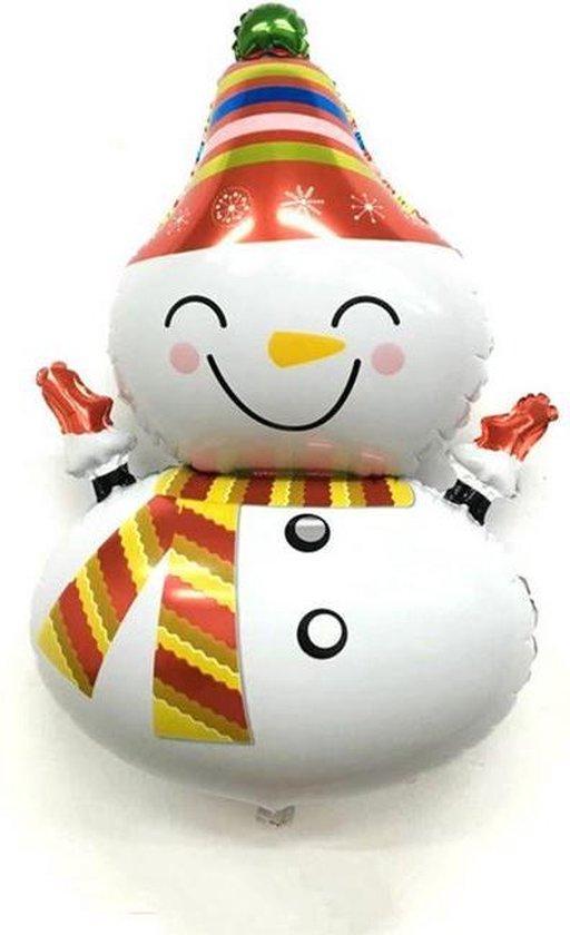 Folieballon XL - Kerst - 100x55cm - Sneeuwpop
