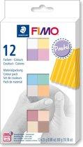 Fimo soft colour pack 12 pastel colours 8023 C12-3  / 12x25gr (04-19)