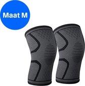 Compressie Knie Brace - Knie Bandage - Knie Verband - Elastische Bandage - Band - Strap - Sleeve - Kousen - Warmers - Blessures - Sport Ondersteuning - Knee Support - Vrouwen - Mannen - Maat: M - 1 stuk - Zwart
