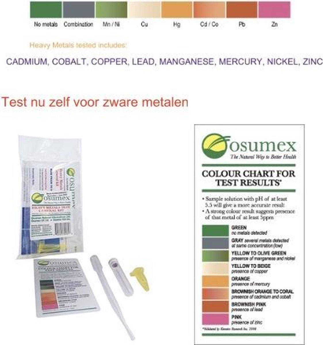 Osumex zelftest zware metalen en lood Test je kraanwater voor lood lood test Direct resultaat