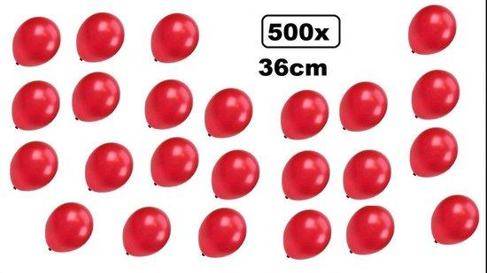500x Super kwaliteit ballonnen metallic rood 36cm