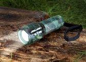 Wetelux LED zaklamp met zoom, 5W, camouflage, aluminium behuizing, nylon holster