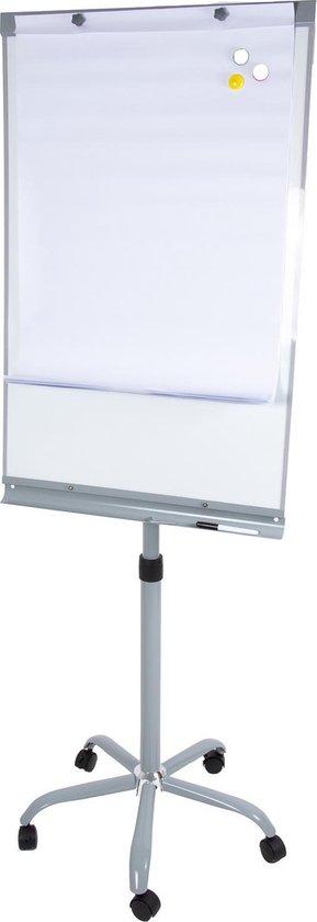 Afbeelding van 2-In-1 Verrijdbare Flipover Magnetisch Whiteboard Op Wielen - Flipchart Notitie Bord Stand - Staand Schrijfbord Standaard Met Toebehoren - Inclusief Papier Marker & Magneten