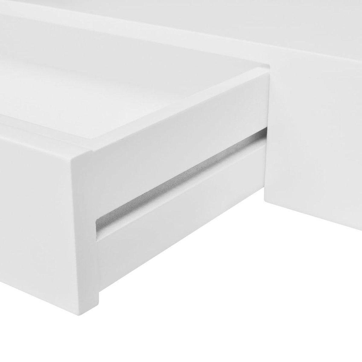 VidaXL Wandplank - 48x25 Cm - Wit - vidaXL