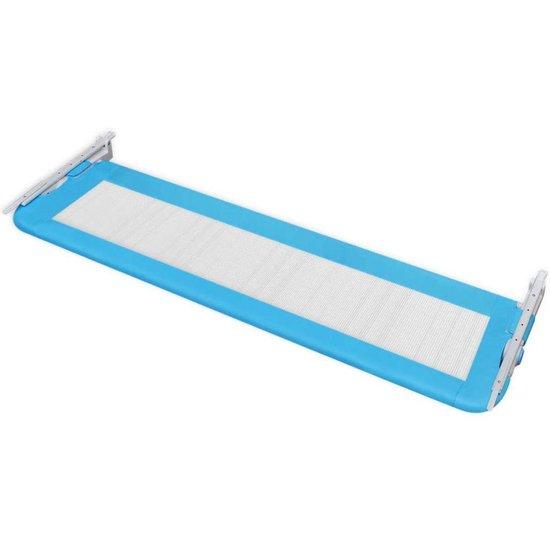 vidaXL Bedhekje peuter 150x42 cm blauw - vidaXL