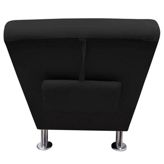 vidaXL - Chesterfield - Chaise longue - zwart - vidaXL