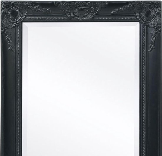 vidaXL Wandspiegel Barok 120 x 60 cm zwart