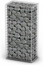 vidaXL Schanskorf met deksels 100x50x30 cm gegalvaniseerd draad