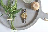 Goudkleurig Ibiza Horloge - Black   Gevlochten Bandje