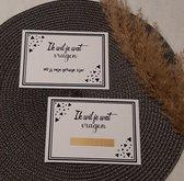 Precious beauty and more - Kraskaart getuige vragen - bruiloft