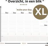 Deskplanner XL -  Purpuz Desk Planner -  A4++ Weekplanner - 120 grams | 55 vel | Krijg Overzicht >