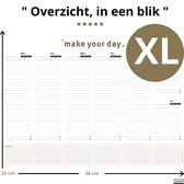 Deskplanner XL -  Purpuz Desk Planner -  A4++ Weekplanner - 120 grams | 55 vel | Krijg Overzicht > - Goud