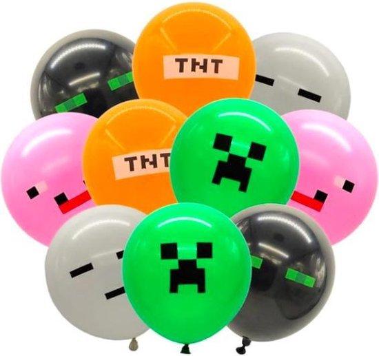 ProductGoods - 10x Minecraft Ballonnen Verjaardag - Verjaardag Kinderen - Ballonnen - Ballonnen Verjaardag - Minecraft - Kinderfeestje