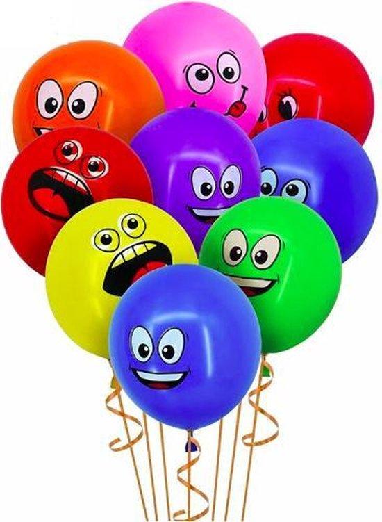 ProductGoods - 10x Smiley Ballonnen Verjaardag - Verjaardag Kinderen - Ballonnen - Ballonnen Verjaardag - Smiley - Kinderfeestje